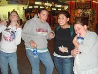 Crazy girls at the boardwalk