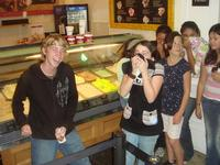 Matt embarasses the whole group by letting one go at ColdStone
