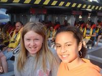 Jacki and Brianna getting ready to go on Flight Deck