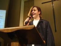 Torey speaking at Youth Sunday