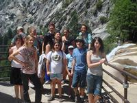 We made it to the top of Vernal Falls.  Yeah!!