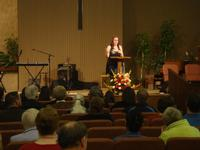 Victoria sharing during Youth Sunday
