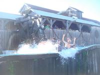 The Log Ride, with some crazy naked dude in the boat