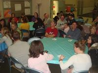 Our parents eating with us at the 30 Hour Famine dinner