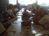8th Grade wakeup breakfast at Denny's
