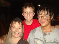 Justen, Kevin, and Tim have fun in the mud