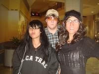 Fion, Chris, and Amy disguised for Mall Hunt