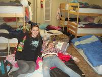 Alexus and Stephanie showing us how messy the girl's dorm is
