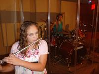 Kelsey playing the flute