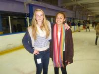 Sara and Donya on the ice