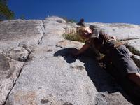 Ryan checking out the granite walls for places to climb