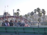 Stacy, Athena, Karena, and Taj on the Log Ride at the Boardwalk