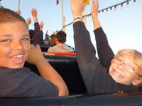 Michael and Ryan on the Giant Dipper