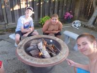 Smores with Jason, Michael, and Ryan.