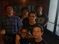 The boys at Laser Quest
