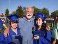 Carmen and Camille with Pastor Rich at High School Graduation