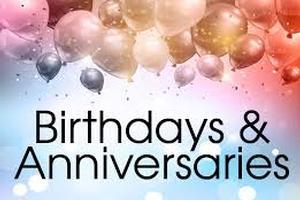 Birthday's & Anniversary's