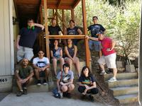 The young adults group at their summer retreat