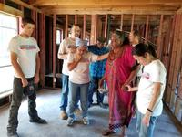 Our Hurricane Harvey team praying with a homeowner after gutting her house