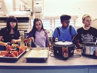 youth serving dinner every wednesday at VIBE